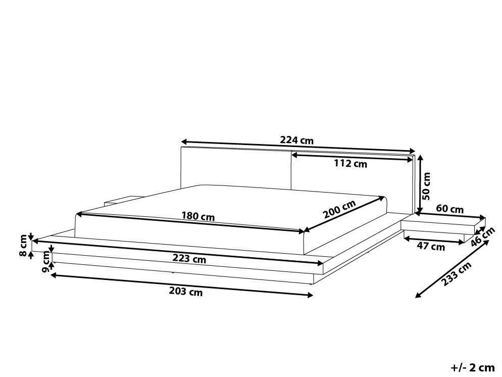 massives designer bett japan style 180x200 cm holz bett buche hellbraun mit lattenrost. Black Bedroom Furniture Sets. Home Design Ideas