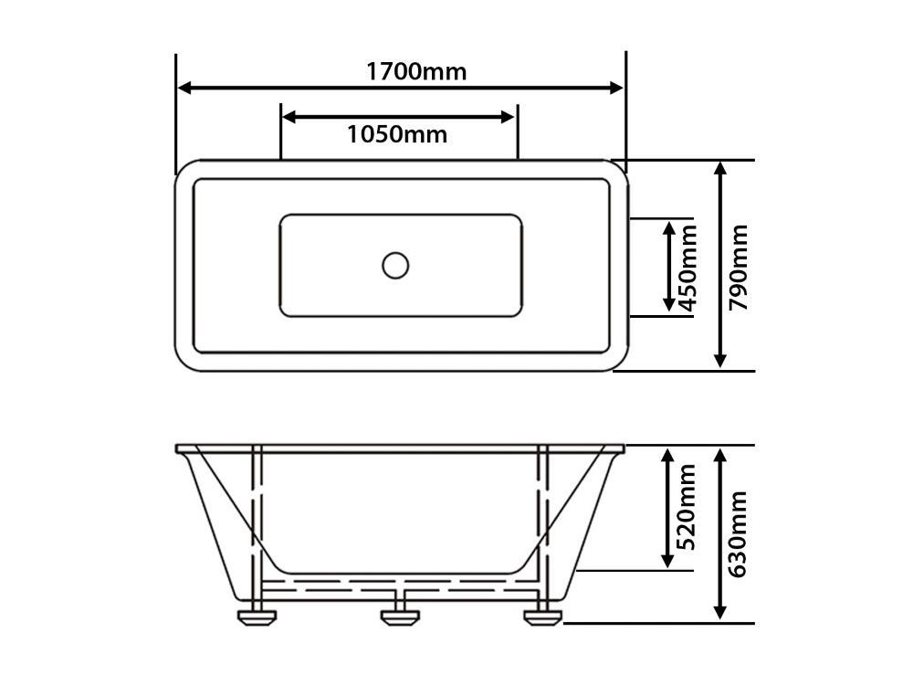 freistehende badewanne amsterdam rechteckig luxus acryl. Black Bedroom Furniture Sets. Home Design Ideas