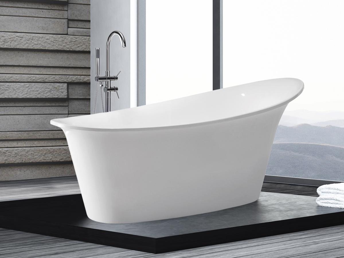 Freistehende badewanne oval günstig  Freistehende Badewanne Haiti schöne Luxus Acryl Wanne für Bad ...
