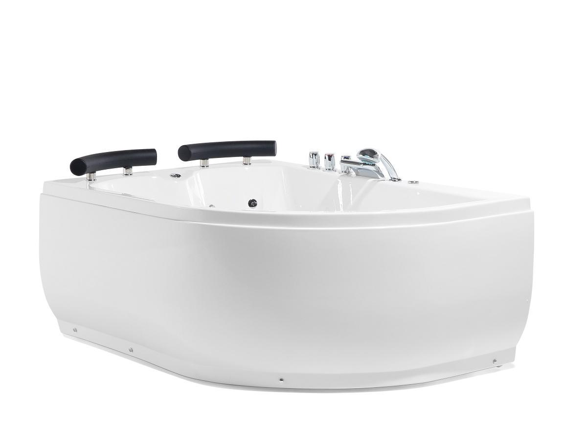 Lieblich Doppel Whirlpool Badewanne Palermo Mit Massage Dsen Led Beleuchtung Luxus  Spa Links Gnstig With Jacuzzi Badewanne