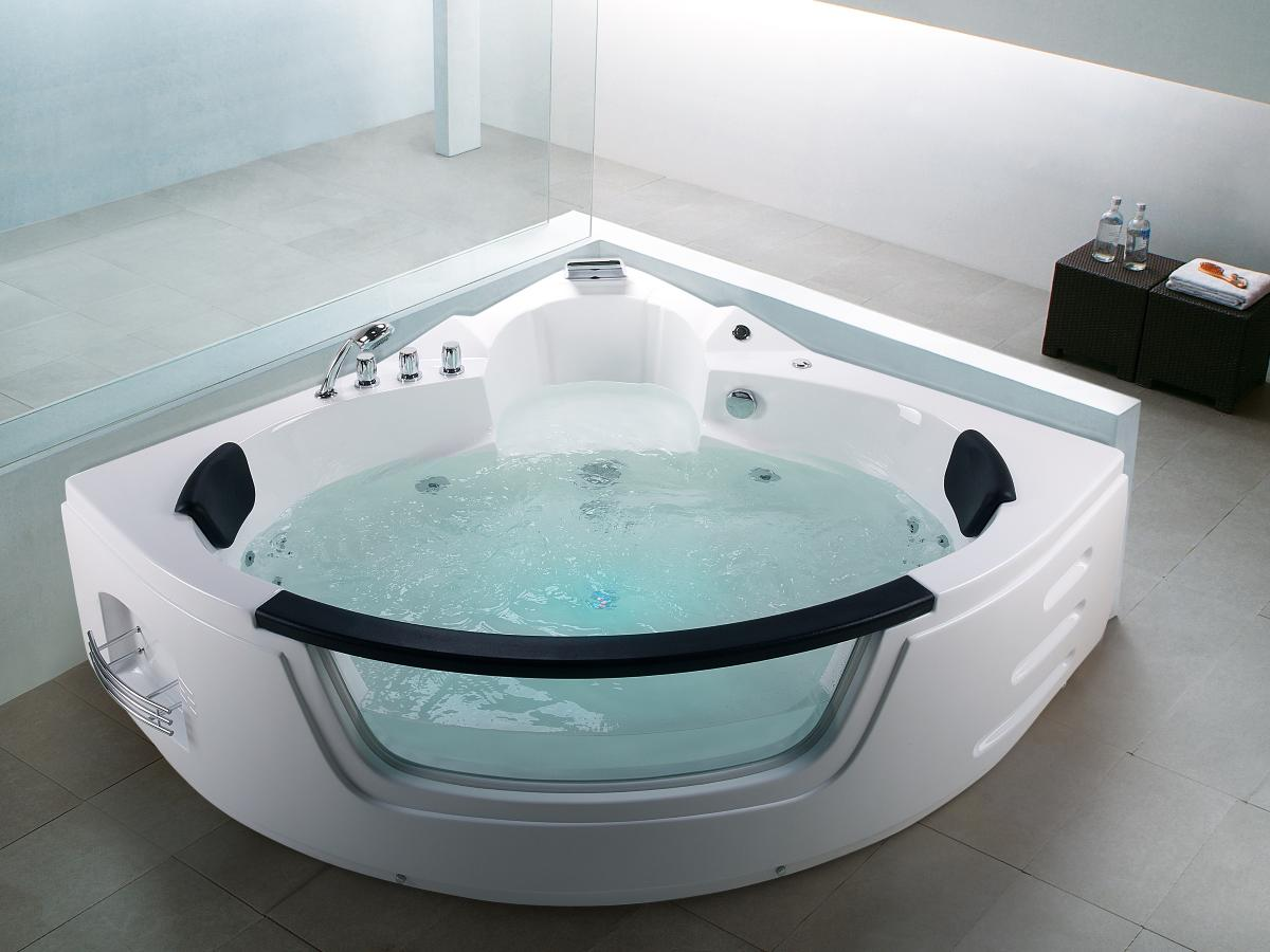 whirlpool badewanne mallorca mit 12 massage d sen led. Black Bedroom Furniture Sets. Home Design Ideas