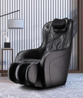 Massagesessel Amazonas Leder Farbe schwarz mit Rollentechnik Heizung Bluetooth Lautsprecher günstig