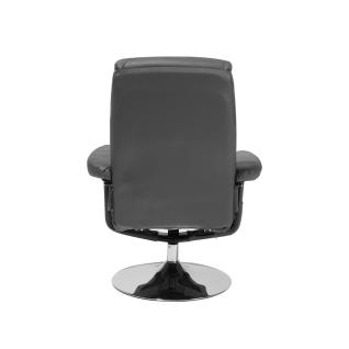 Moderner Massagesessel Lyon Leder Sessel mit Massage Farbe schwarz Fernsehsessel mit Hocker günstig - Vorschau 4