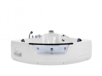Whirlpool Badewanne Mallorca mit 12 Massage Düsen + LED Beleuchtung Luxus Spa innen günstig - Vorschau 3