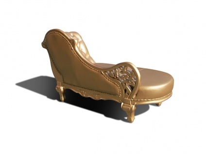 Designer ECHTLEDER Chaiselongue Leder Chesterfield WEISS, SILBER oder GOLD Lounge Couch Sofa aus Eiche Holz - Vorschau 5