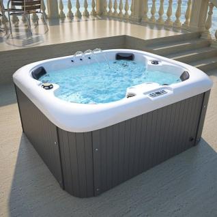 Outdoor Whirlpool Hot Tub Springfield mit 19 Massage Düsen + Heizung + Ozon für 4 Personen Pool Spa günstig