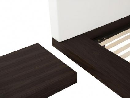 "Massives Designer Bett ""Japan Style"" 160 / 180 x 200 cm Holz Bett Farbe Nougat mit Lattenrost - Futonbett japanischer Stil - Vorschau 3"