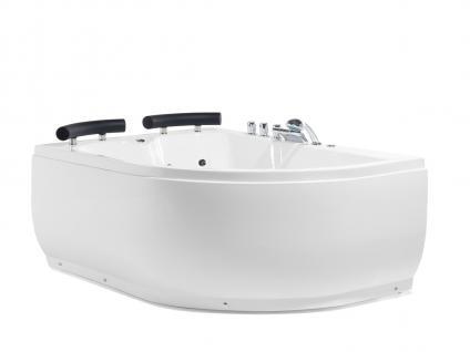 Doppel Whirlpool Badewanne Palermo mit 15 Massage Düsen + LED Beleuchtung Luxus Spa links günstig - Vorschau 1