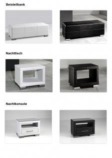 """Designer Lederbett / Polsterbett """"Selina"""" Bett weiss oder schwarz wellenförmiges Design - Vorschau 5"""