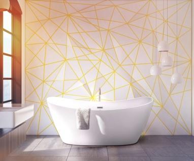 Freistehender Luxus Whirlpool Badewanne Orlando freistehend mit 12 Massage Düsen + LED Spa für Bad