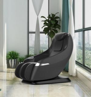 Massagesessel Atlanta Leder Farbe schwarz mit Rollentechnik Heizung Zero Gravity Funktion günstig