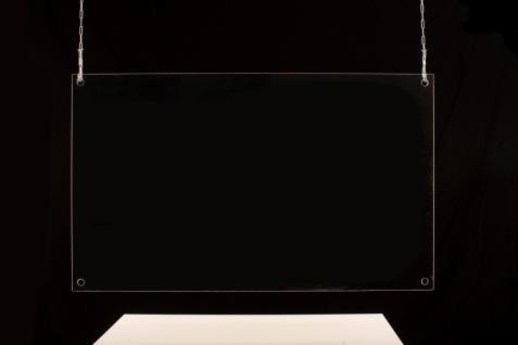 Sanitär Acrylglas Schutzwand Virenschutz Thekenaufsatz Hustenschutz Niesschutz Schutz vor Spucke für Kassen Theken Arztpraxis Apotheke Tankstelle - Vorschau 4