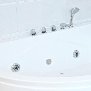 XXL Luxus Whirlpool Badewanne Bali RECHTS mit 14 Massage Düsen + Armaturen Spa für Bad rechte Eckwanne günstig - Vorschau 3