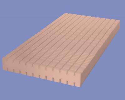 """7 Zonen Kaltschaum Matratze """"Air Circulation"""" Höhe 18 + 22 cm RG 60 Schaumstoff mit 3D Würfelschnitt günstig"""