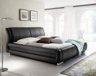"""Designer Lederbett / Polsterbett Basel Leder Bett weiss, braun oder schwarz 160x200 + 180x200 cm"""""""""""