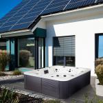Outdoor Whirlpool Hot Tub Sidney weiß Spa mit 57 Massage Düsen + Heizung + Ozon Desinfektion für 7 Personen Garten / Terrasse