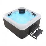 Outdoor Whirlpool Hot Tub Dubai weiss mit 25 Massage Düsen + Heizung + Ozon für 4 Personen Spa neu