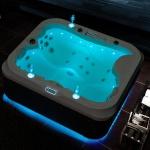 Outdoor Whirlpool Hot Tub Valencia weiss mit 21 Massage Düsen + Heizung + Ozon für 2- 3 Personen Spa