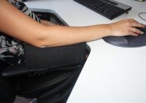 Gel / Gelschaum Stützkissen für Armlehne Bürosessel Armauflage Armstütze Kissen Schreibtisch PC