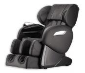 Massagesessel Shiatsu F2000 Leder Farbe schwarz mit Rollentechnik + Heizung + Fußmassage günstig