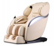 Massagesessel Deluxe V2 Zero Gravity creme weiß beige Fernseh Sessel mit Rollentechnik Heizung Fußmassage Armmassage