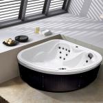 Outdoor Whirlpool Hot Tub Daylight weiss mit 18 Massage Düsen + Heizung + Ozon für 2 Personen Spa super günstig