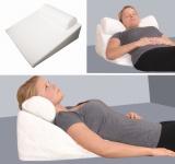 PU + Gelschaum Reflux Keilkissen Refluxkissen Kopfkissen mit Nackenkissen stützendes Kissen zum Lesen Fernsehen