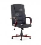Leder Chefsessel Massagesessel San Diego Holz Bürosessel schwarz mit Massage + Heizung günstig