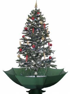 Weihnachtsbaum mit Schneefall Schnee LED Licht Musik 2 m GRÜN