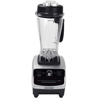 Syntrox Küchenmixer Standmixer BPA-frei, 1500 Watt, 40000 U/Min, 2 Liter, 6 Edelstahlklingen - LCD-Display - Zerkleinerer - Icecrusher - Getreidemühle - Vorschau 3