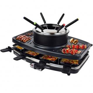Syntrox 3 in 1 Raclette-Grill-Fondue-für 8 Personen