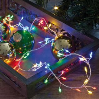 LED-Clusterkette, LED-Minilichterkette 100 bunte LEDs
