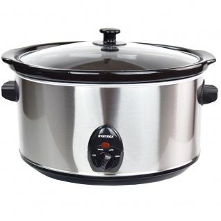 Syntrox 8, 0 Liter Edelstahl Slow Cooker mit Warmhaltefunktion