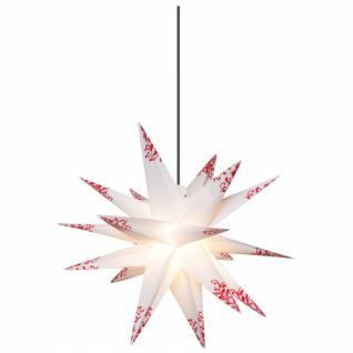 Weihnachtsstern, rote Verzierungen weiß/rot, Ø 50 cm