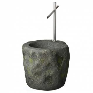 Ubbink SACRAMENTO - Wasserspiel Felsbrunnenimitat mit Edelstahl