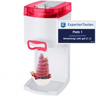 """Syntrox Softeismaschine Eismaschine Frozen Joghurt Maschine 4in1 """" rot"""""""
