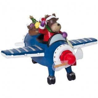Weihnachtsflugzeug, 6 ww LEDs,