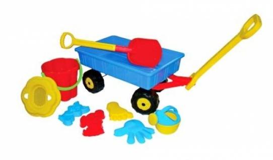 Polesie Handwagen mit Eimergarnitur Blume mit Gießkanne klein, 9-tlg. (Set Nr. 382)