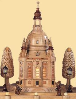 Müller-Kleinkunst aus dem Erzgebirge® seit 1899 Schwibbogen Alt Dresden, mittelgroß, natur - Vorschau 2