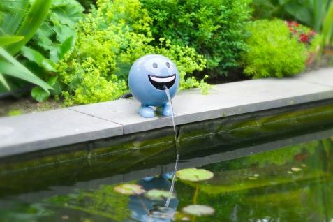 Ubbink Wasserspiel BE HAPPY - Polystone, H19 x Ø16 cm, blau - Vorschau 3