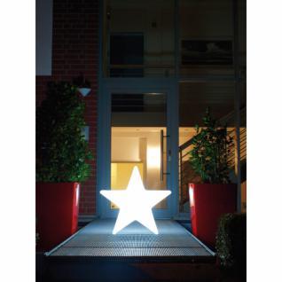 Außendekoleuchte, SHINING STAR beleuchteter Stern, weiß, Ø 600 mm