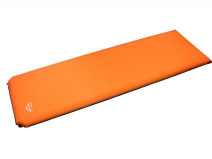 Selbstaufblasende Thermo-Liegematte Thermomatte, orange 200 x 66 x 10 cm, rutschfest