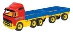 VOLVO Truck Pritsche mit Anhänger