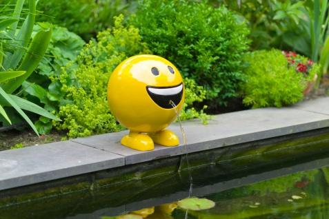 Ubbink Wasserspiel BE HAPPY - Polystone, H29 x Ø25 cm, gelb - Vorschau 3