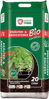 GREEN TOWER 10 x Bio Kräuter- und Anzuchterde Beutel à 20 Liter