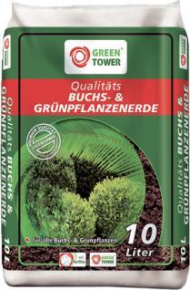 GREEN TOWER 10 x Qualitäts-Buchsbaum- und Grünpflanzenerde a 10 Liter - Vorschau