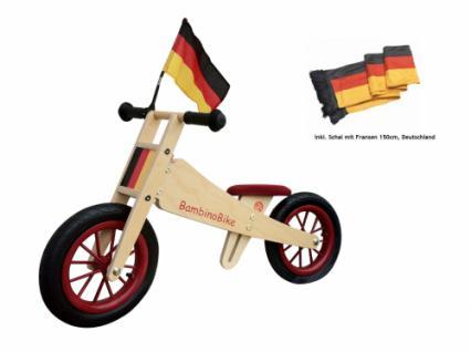 Bambino Bike Deutschland Bike, Laufrad Holz mit Fahne