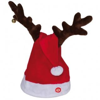 Weihnachtsmütze mit Musik & Bewegung, H 40 cm