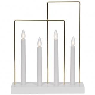 Weihnachtsleuchter GLOSSY FRAME, 4 x E10/55V/3W