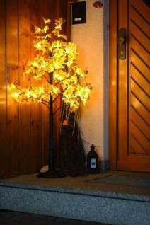 Hellum LED-Baum Ahorn braun 120cm warmweiss aussen